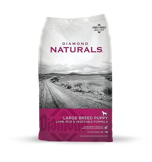 Diamond Naturals Large Breed Puppy Food pack