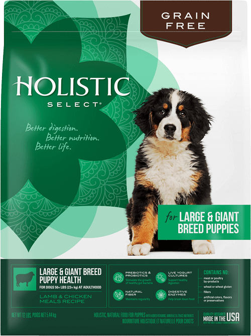 package for holistic select large and giant breed puppy food