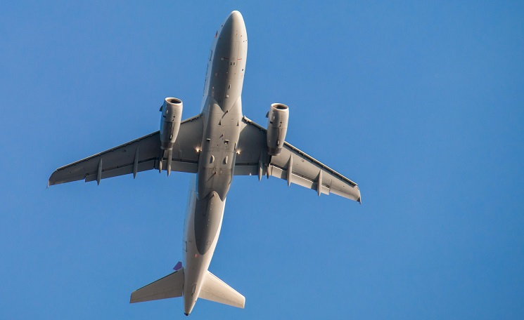 a large plane flying in the sky