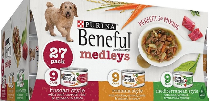 a package of Beneful dog food from Purina