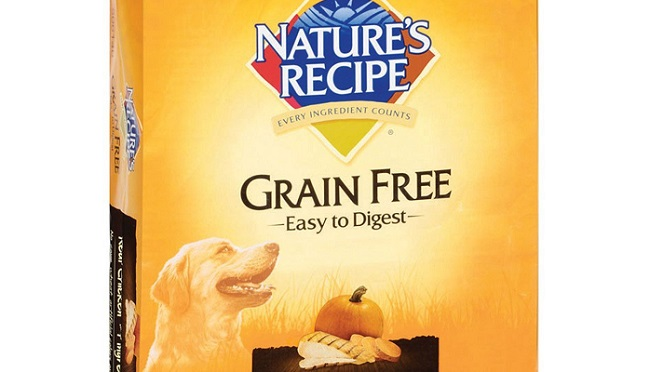 a bag of Nature's Recipe dry dog food