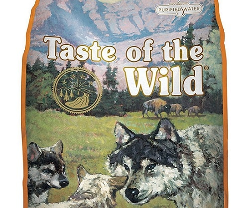 a interesting-looking package of Taste of the Wild dry dog food