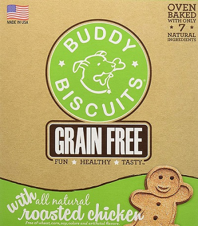 a package of Buddy dog biscuits