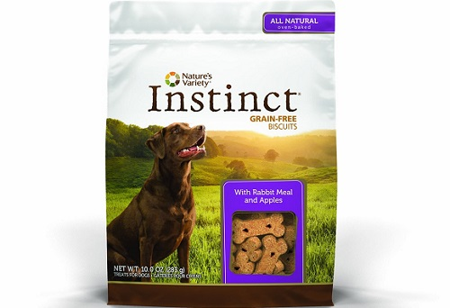 a small package of Instinct grain free dog treats
