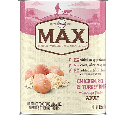 a can of Nutro Max dog food
