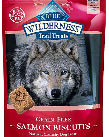 a package of Wilderness Blue Buffalo dog biscuits