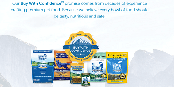 the Natural Balance dog food brand products