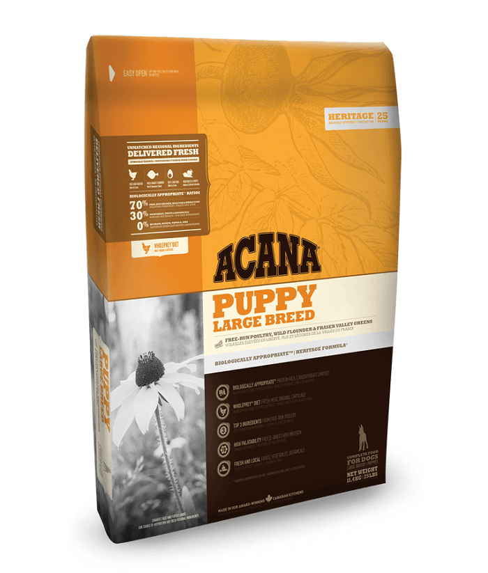 pack of acana heritage dog puppy large breed