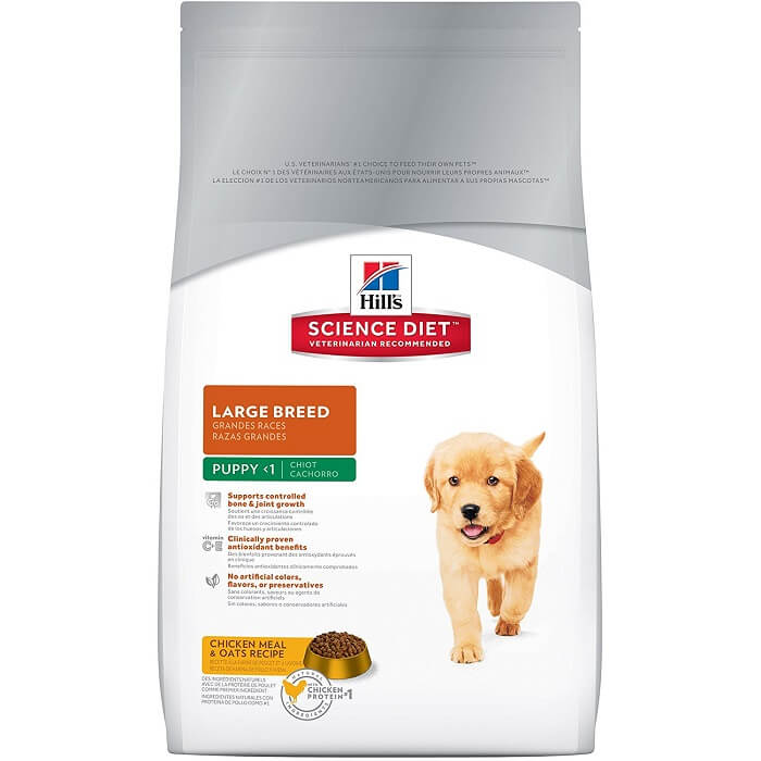 hills puppy large breed dry food science diet product