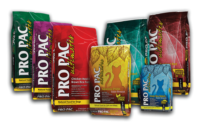 propac line of pet food products